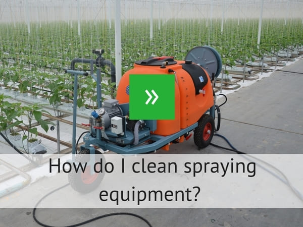 How do i clean spraying equipment?