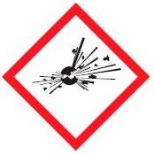 hazard symbols explosive