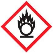 hazard symbols oxidizing