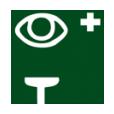 eye wash station or eye rinsing bottle