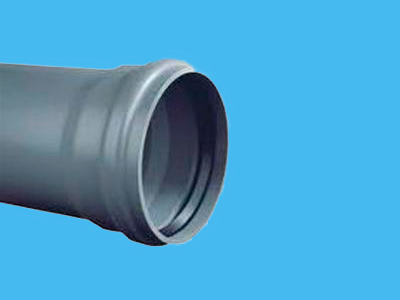 Pipe Ø125 x 2,5 x 600 mm+ cuff-socket KL51/SN2 PVC