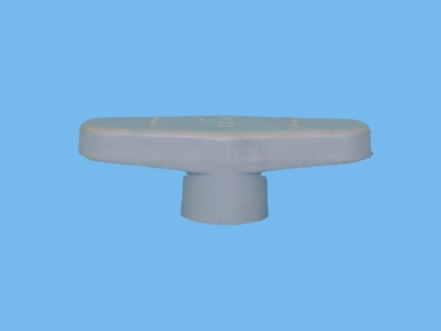 Handle grey for ball valve 50 + 63 pvc
