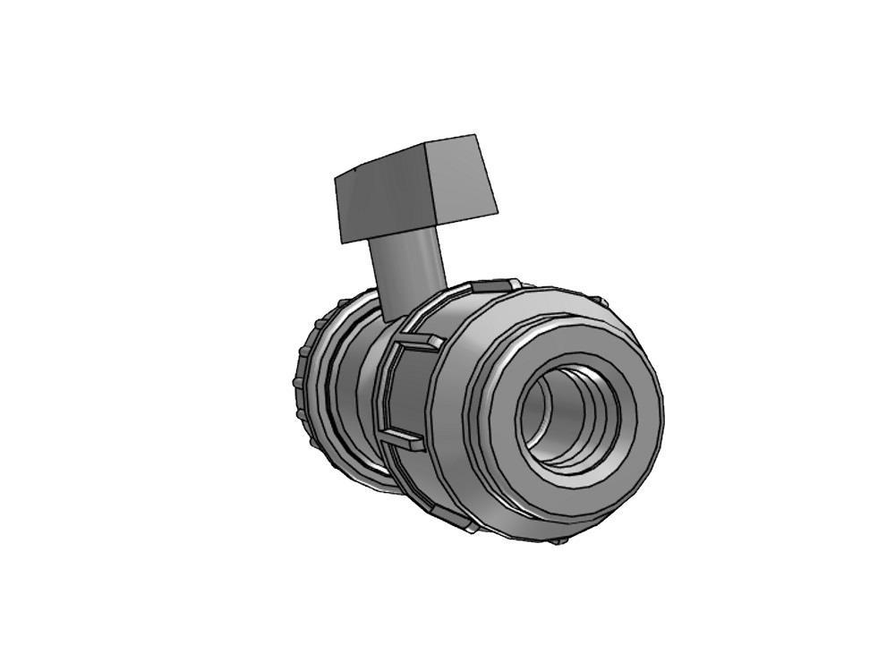 Ball valve Ø40/32mm pvc x Ø32mm pe 10bar