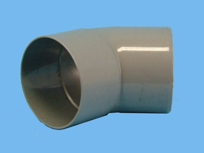"Bend Ø100mm x 45"" - 1 x wedge 1 x solvent cement socket pvc"