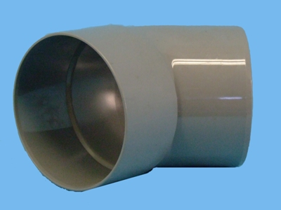 "Bend Ø125mm x 45"" - 1 x wedge 1 x solvent cement socket pvc"