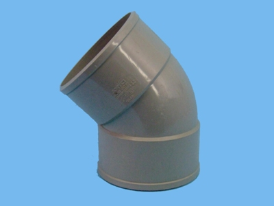 "Bend Ø125mm x 45"" - 2 x solvent cement socket pvc"