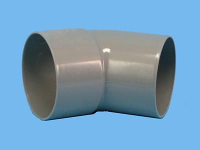 "Bend Ø 80mm x 45"" - 1 x wedge 1 x solvent cement socket pvc"