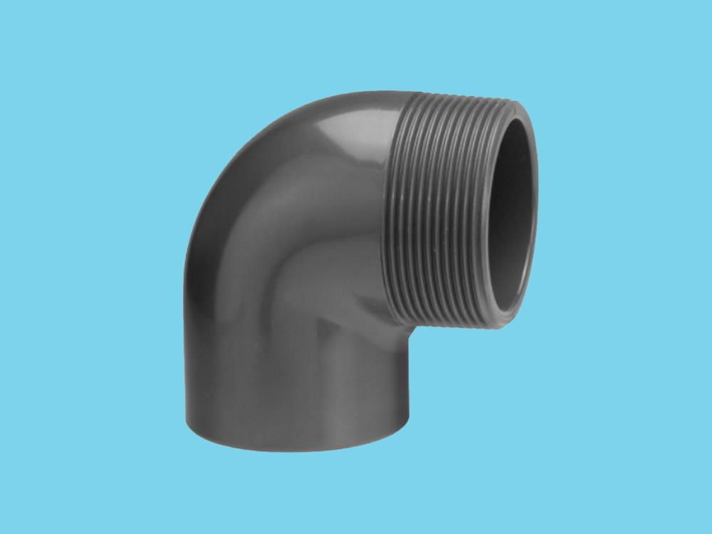 "Elbow 32mm x 1'' 90"" male 10bar pvc"