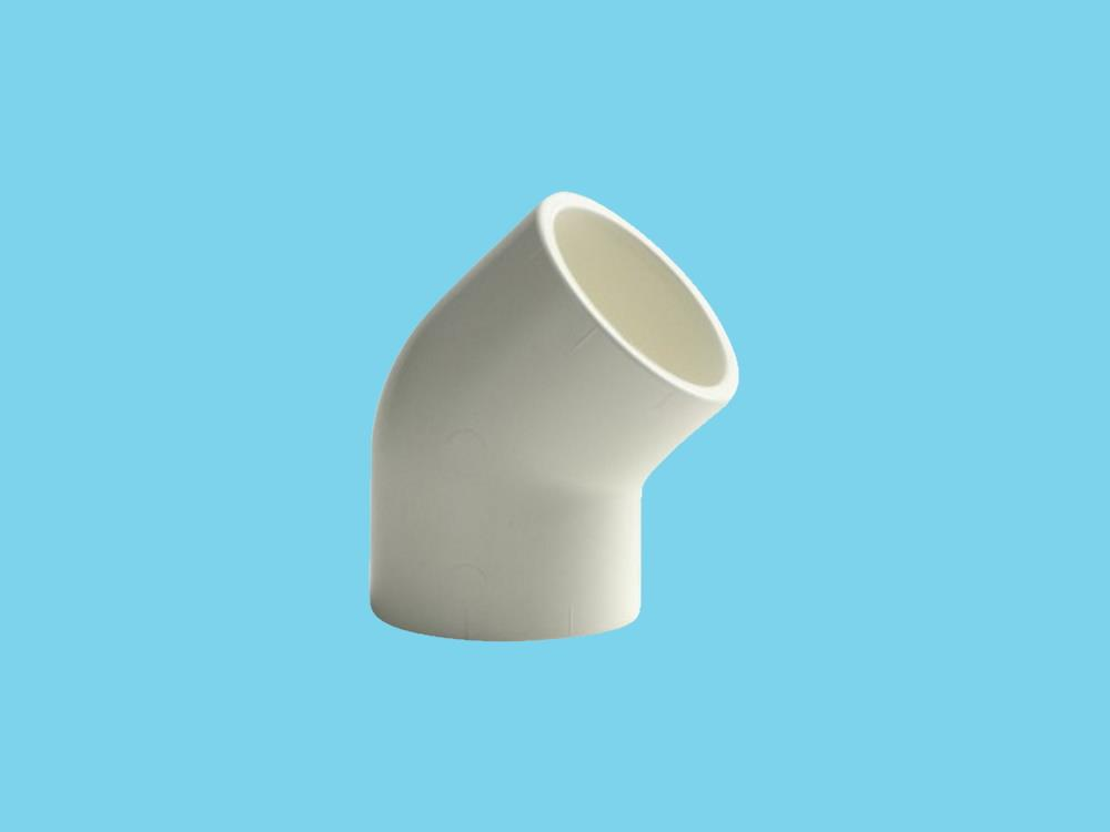 "Elbow 25x25mm 45"" white 16bar pvc"