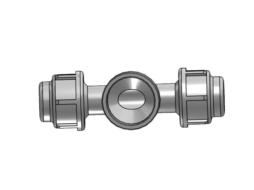 Tee substrate Ø20  x 32 (pvc) x 20mm PE