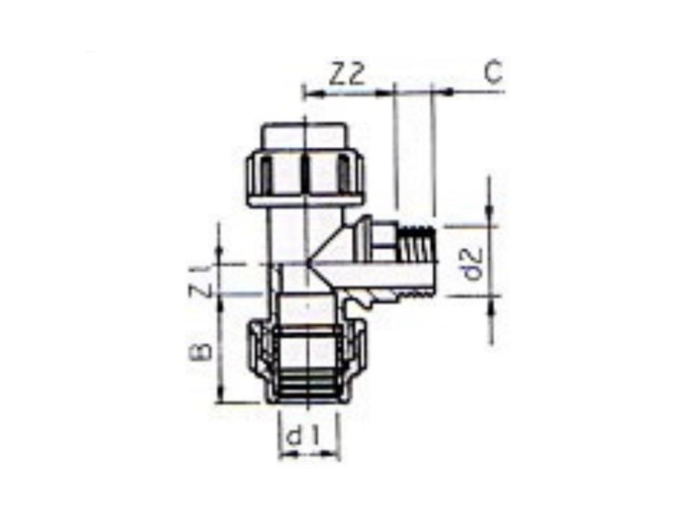 PE TEE 25 mm X 1