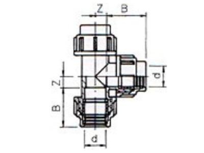 Pe Tee 32 mm X 32 mm X 32 mm