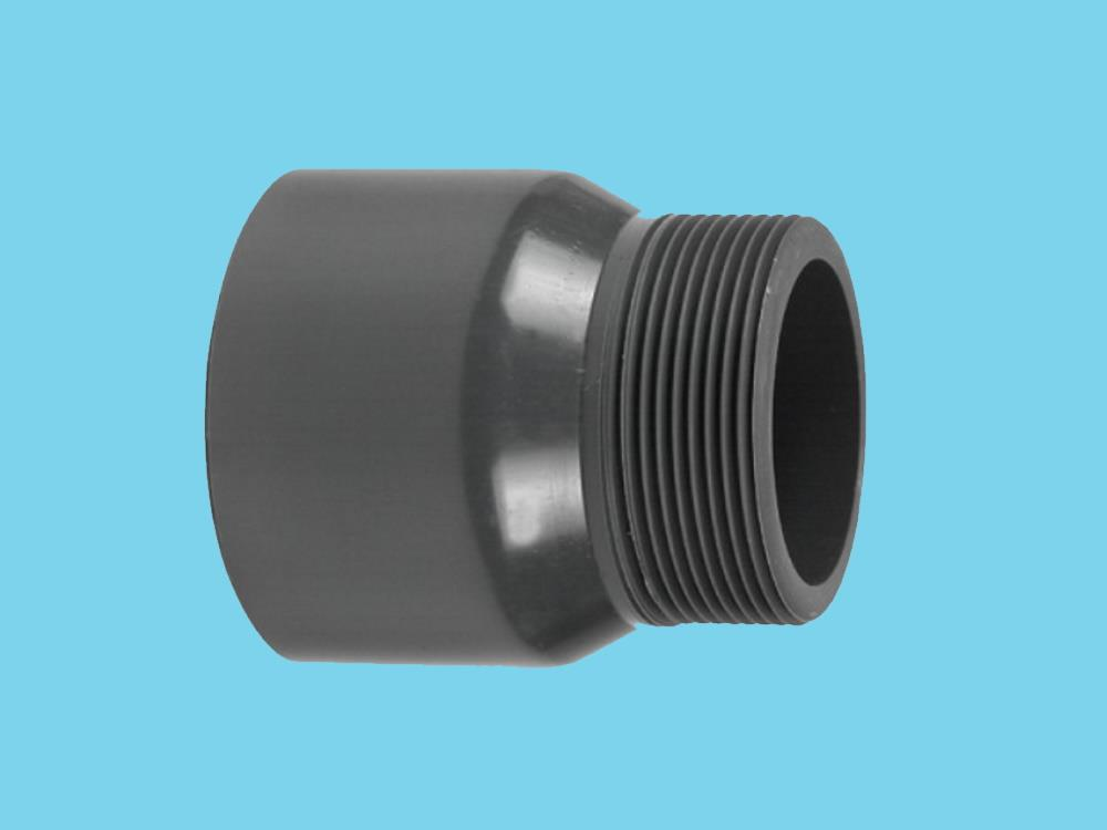 "Adaptor nipple Ø125 x 3"" 16bar pvc"
