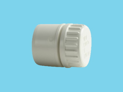 "End part Ø25/32mm, 1"" 10bar white pvc"