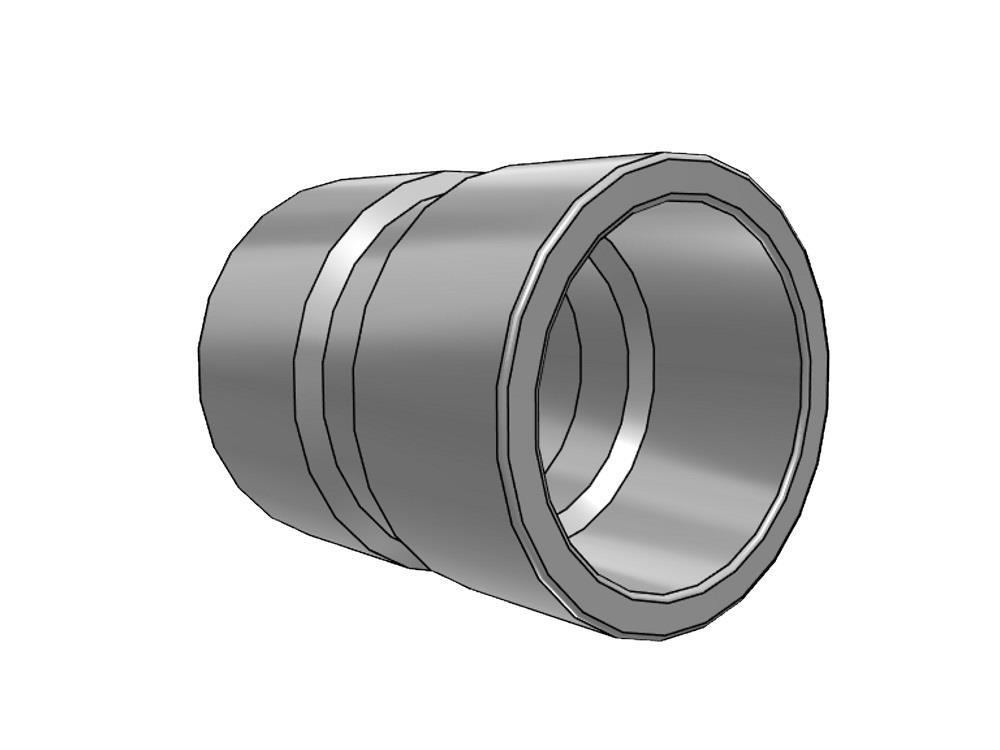 socket Ø32 x 32 mm 10bar pvc