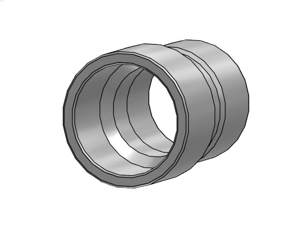 Reducing socket Ø75 x 50 mm 7,5bar pvc