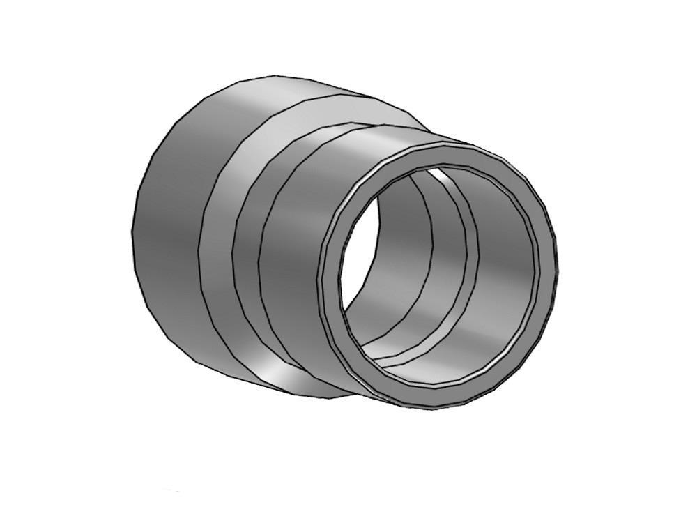 Reducing socket Ø90 x 63 mm 10bar pvc
