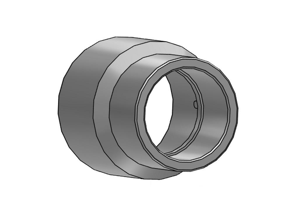 Reducing socket (insert) Ø20/16 x 12 mm 16bar pvc