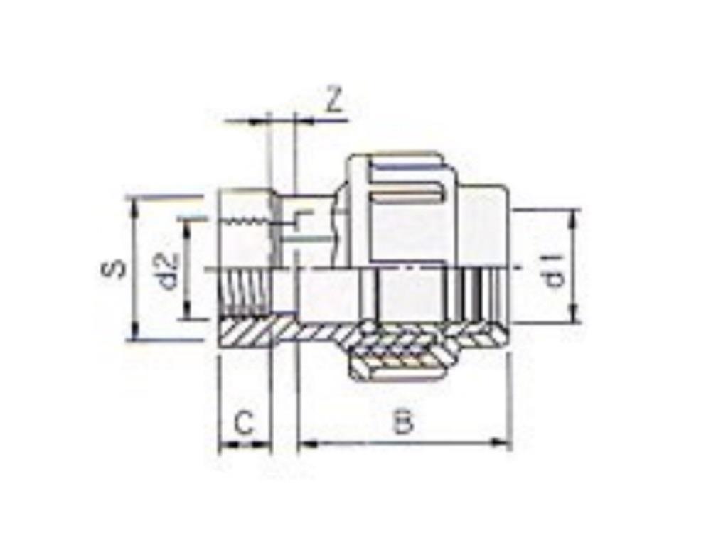 Pe coupling 20mm x 1/2