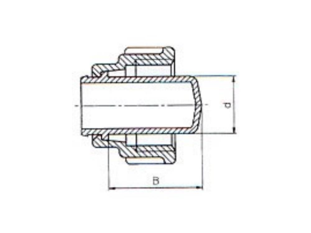 PE stop fitting for coupling 20
