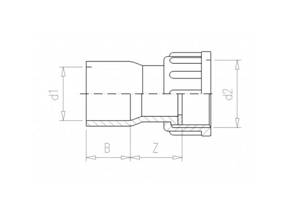 Union 2/3  63mm x 2,5