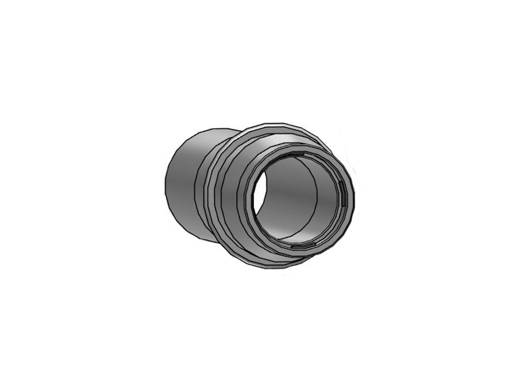 Layflatconn.with ring 32mm pvc
