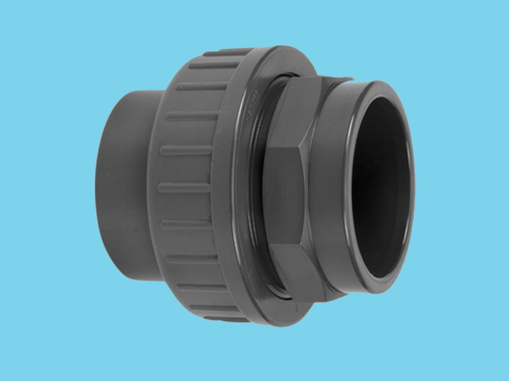 "Adaptor union 3/3 Ø63 x 2 3/4"" 16bar pvc"