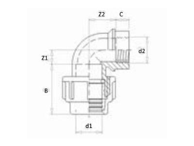 Elbow PE 25mmx1/2
