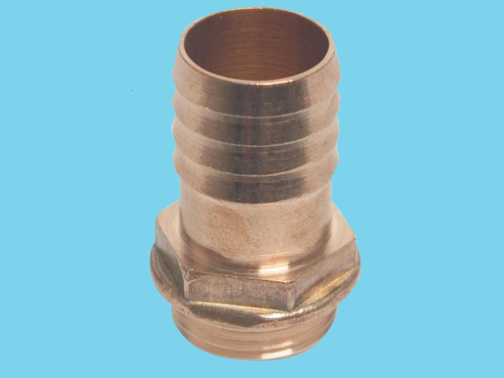"Brass hose barb 1"" male thread x19mm hose"