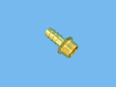 Brass hose barb hex. 1/2bux 8