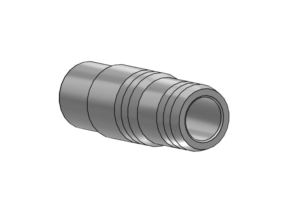 Hose barb Ø50 x 53/50 mm coupling pvc