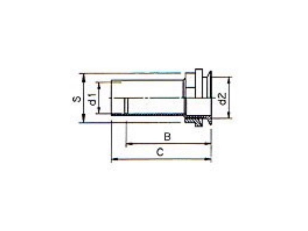 Drain gutter lead-through 32x5/4