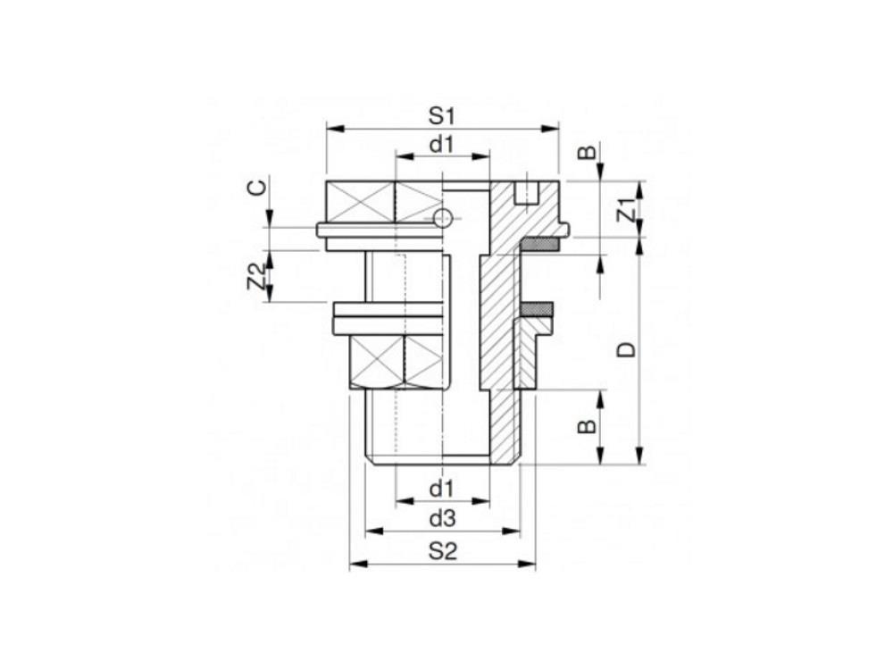 Tank connector Ø16mm x 3/4