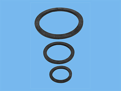 Rubber washer 100x75x4 for table duct 2 1/2
