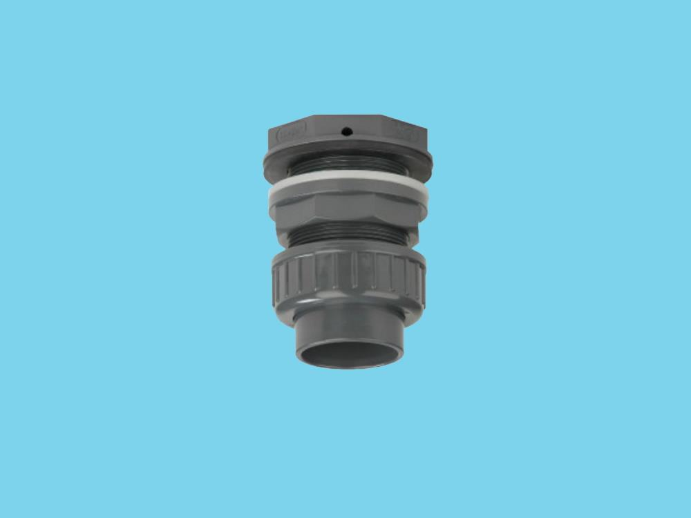 Tank connector + union part 50 x 2 1/4