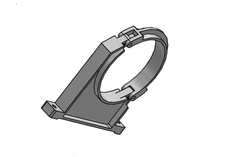 Tube clamp Ø200mm pvc