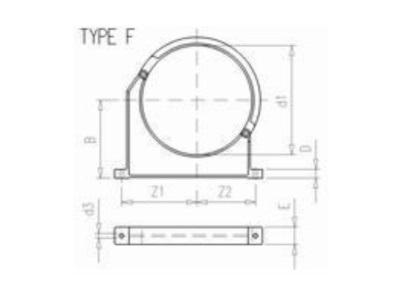 Tube clamp Ø250mm pvc