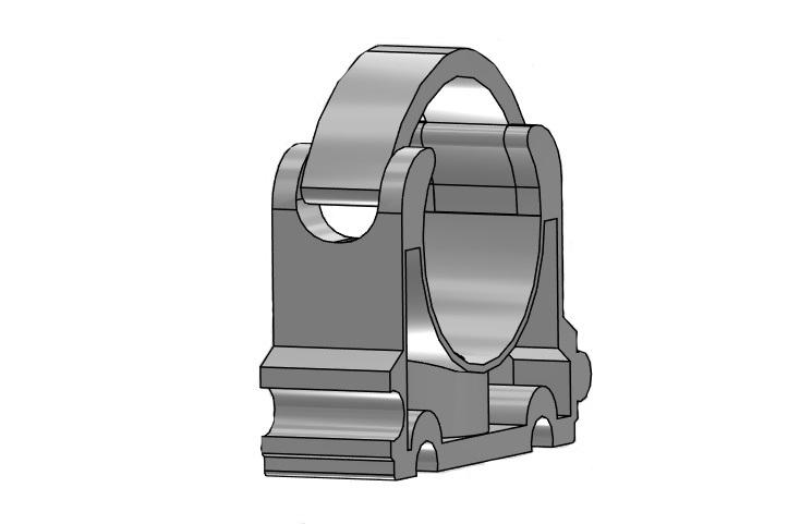 Tube clip Ø75mm pvc