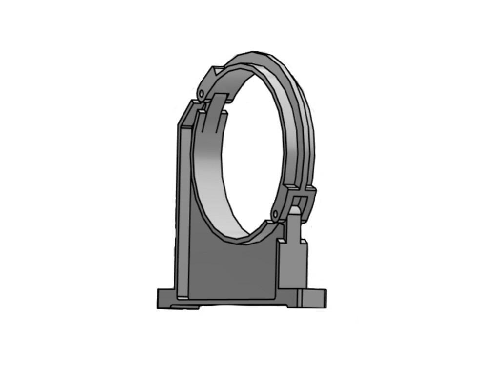 Tube clamp Ø400mm pvc