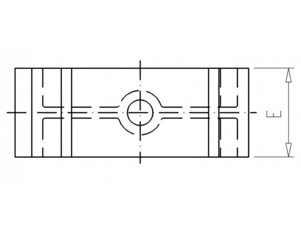 Filling block H20mm white tbv tube clip 20 pvc