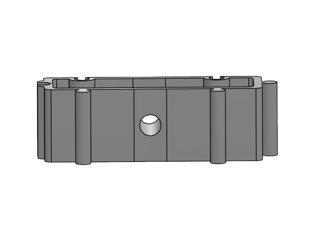 Filling block H20mm white tbv tube clip 32 pvc