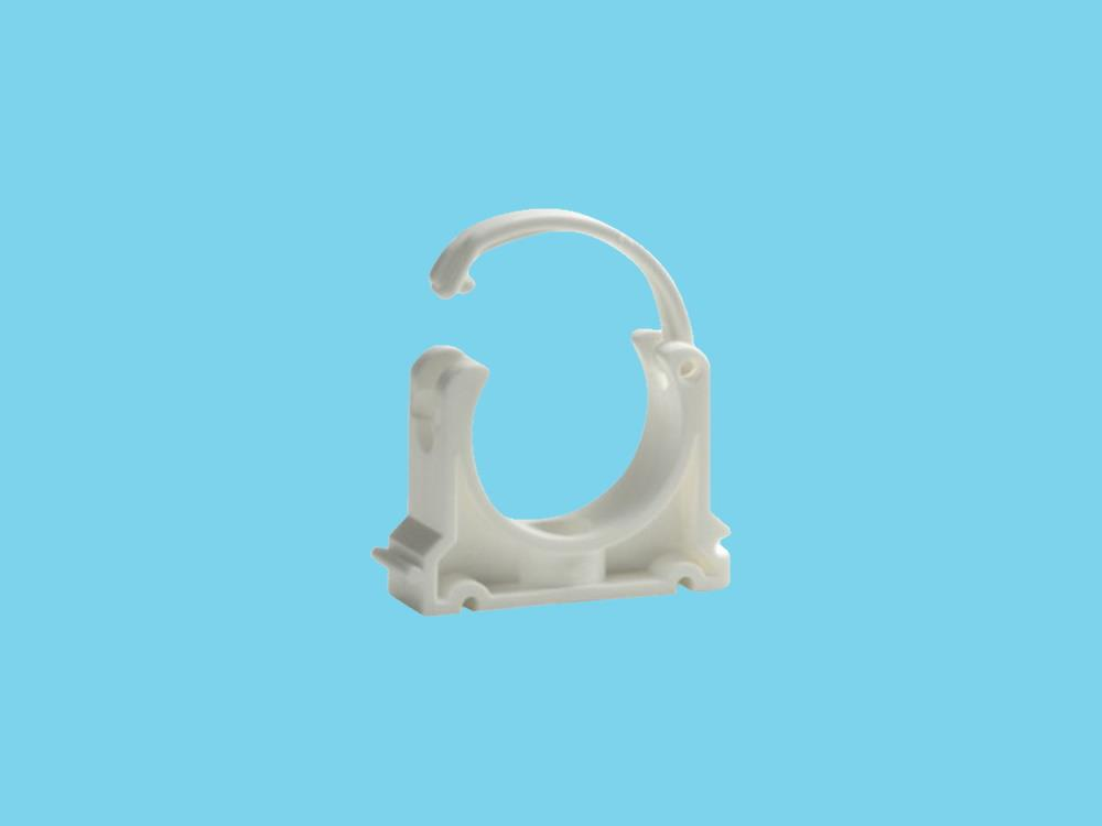 Tube clip Ø40mm white pvc