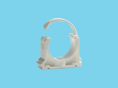Tube clip Ø90mm white pvc