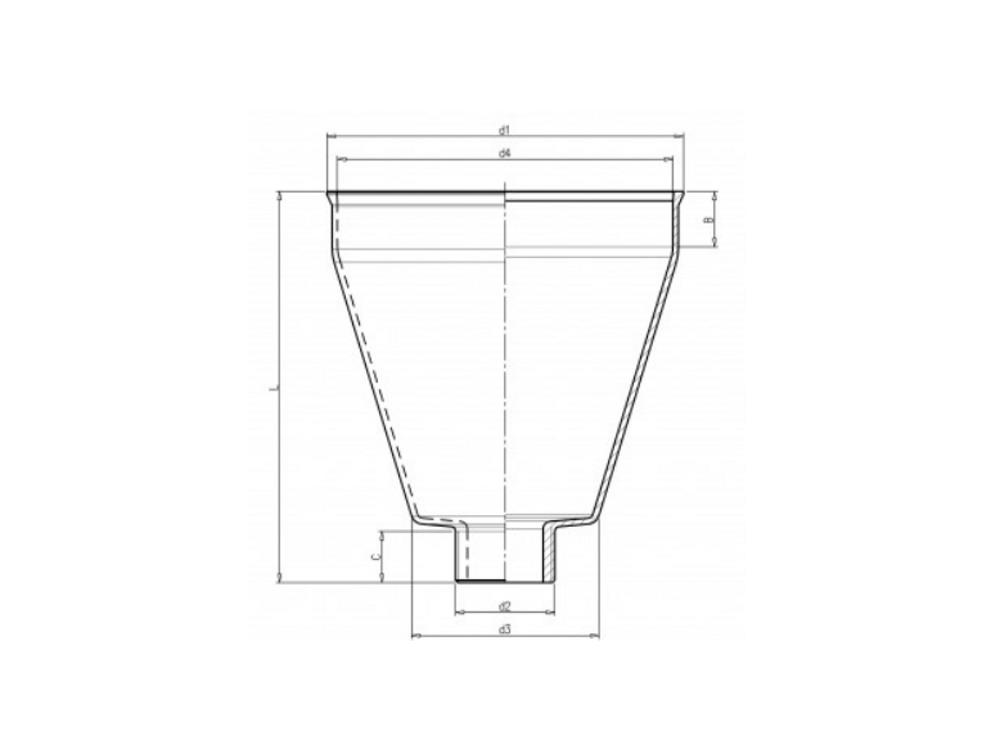 Pump priming funnel 3/4