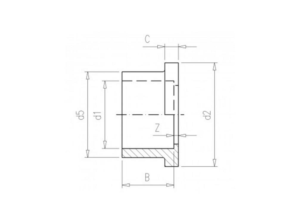 Flange adaptor 16 Ø29mm, thickness 6mm pvc