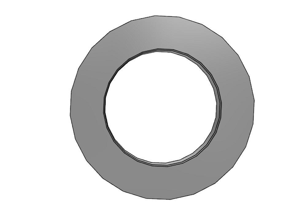 Flange adaptor 40 Ø60mm, thickness 8mm pvc