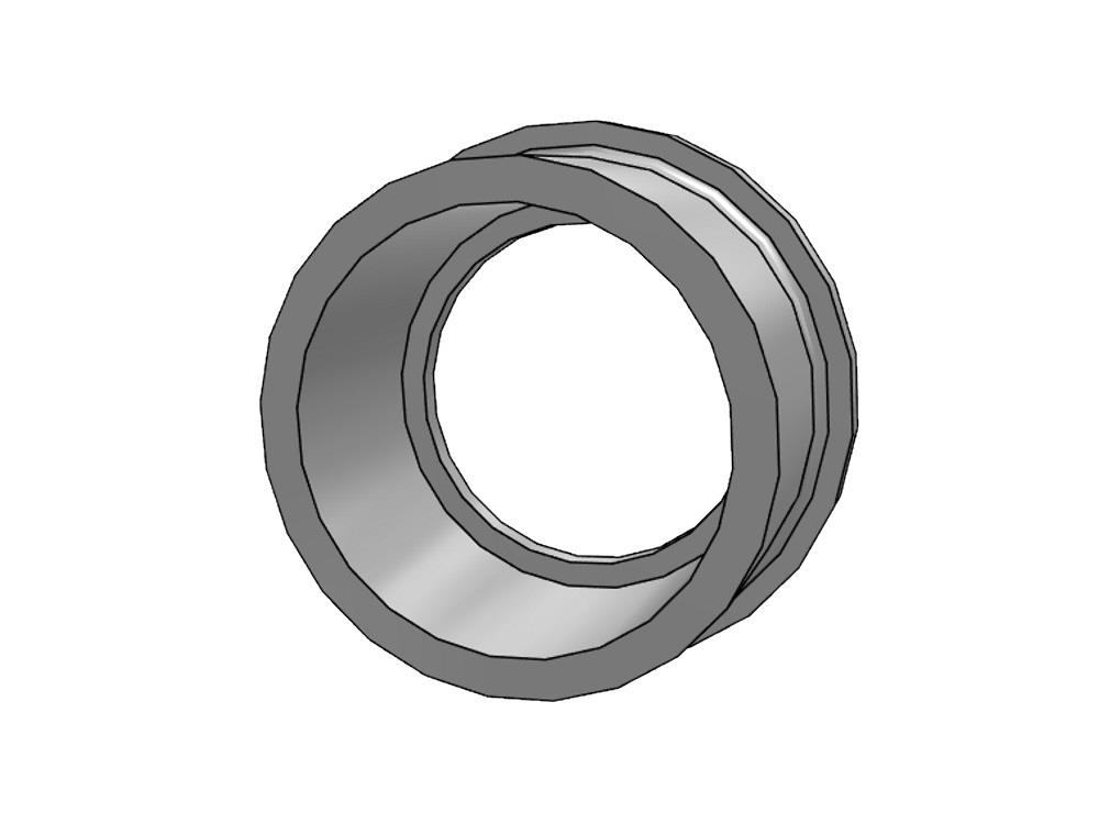 Flange adaptor 75 Ø106mm, thickness 10mm pvc