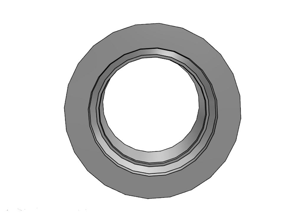 Flange adaptor 225 Ø273mm, thickness 22mm pvc
