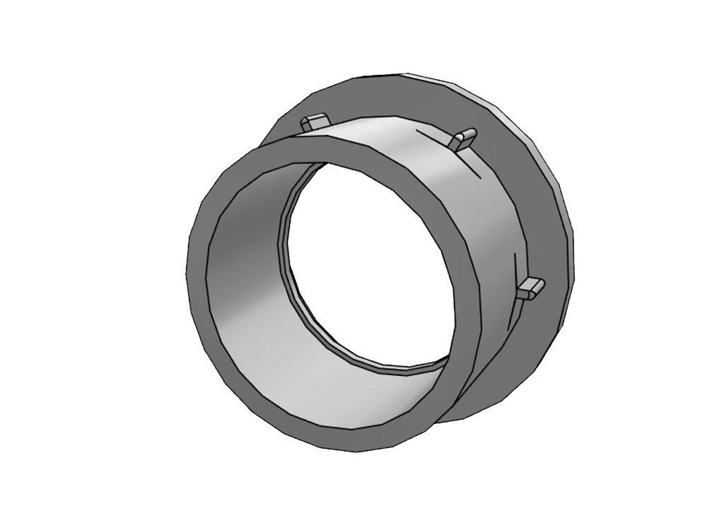 Flange adaptor 250 Ø328mm, thickness 25mm pvc