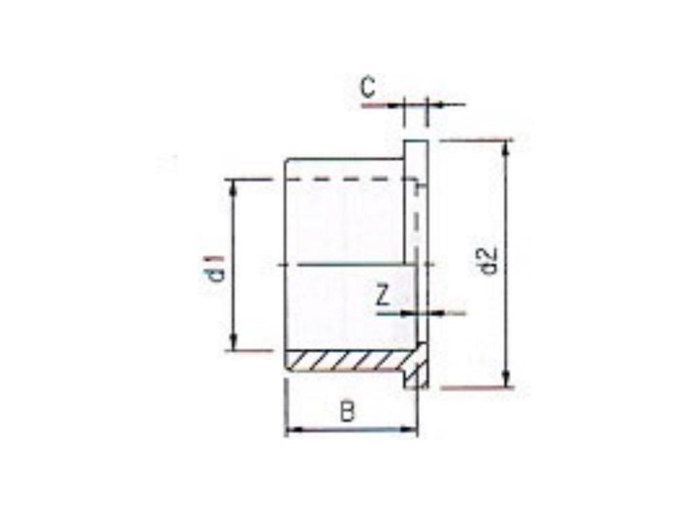 Flange adaptor 40mm for adaptor union